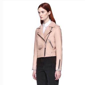 MACKAGE pink lambskin leather jacket